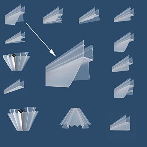 Wagner Magnetdichtung Bodendichtung Türdichtung Eckdichtung für Duschkabine Duschabtrennung Duschen Duschwände (BD-V Dichtung, 120cm Länge) -