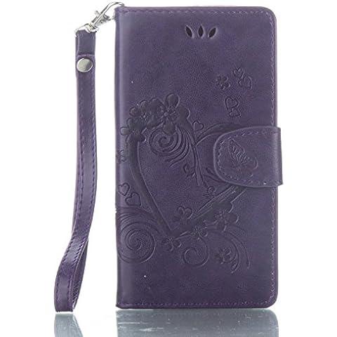 Leather Case Cover Custodia per Sony Xperia X ,Ecoway Caso