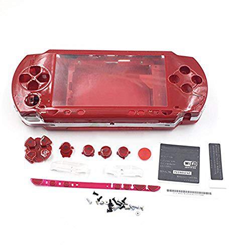 Ersatz Full Gehäuse Cover mit Full-Button Set und Schraube für Sony PSP 1000Konsole (Rot)