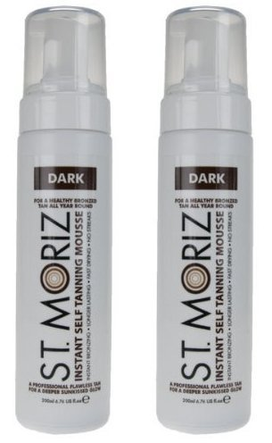St Moriz Instant Self Tanning Mousse 2 x 200ml - Dark