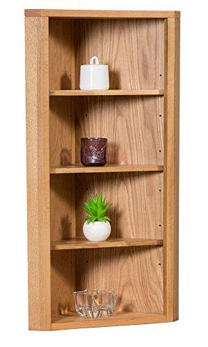 waverly-oak-corner-storage-cabinet-top-in-light-oak-finish-low-cabinet-with-shelf-solid-wooden-unit