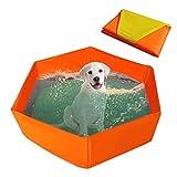 Luckybaby Piscina per Cani Pieghevole per Animali Domestici, Vasca per Gatti con Spugna per Cani, Piscina per Animali Domestici