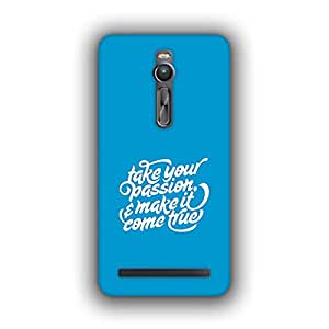 Caseque (Pro) Take Your Passion.. B Back Cover for Asus Zenfone 2