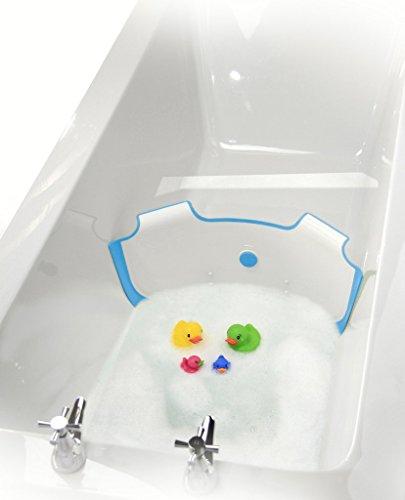 ** NUEVO ** BabyDam Bathwater Barrera | Bañera de hidromasaje bebé | Blanco / Azul | Convierte un baño estándar a un baño de bebé