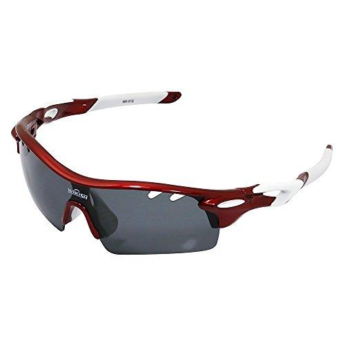 Fahrradbrille Tr90 mit 5 Wechselobjektiven für Herren Damen Radtour Sport Sonnenbrille Sportbrille Frauen Radsports Baseball Laufengläser