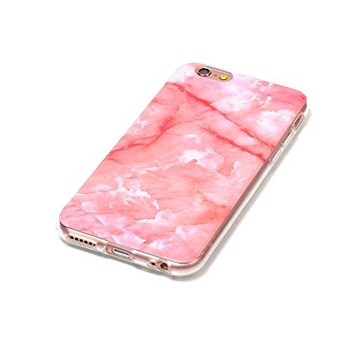 "MOONCASE iPhone 6/iPhone 6s Hülle, [Colorful Marble Pattern] Ultra Slim TPU Anti-Kratzer Stoßfest Schutztasche Case für iPhone 6/iPhone 6s 4.7"" Colorful Pink"