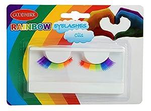 GOODMARK - Maquillaje facial de pestañas con arco de cielo, multicolor