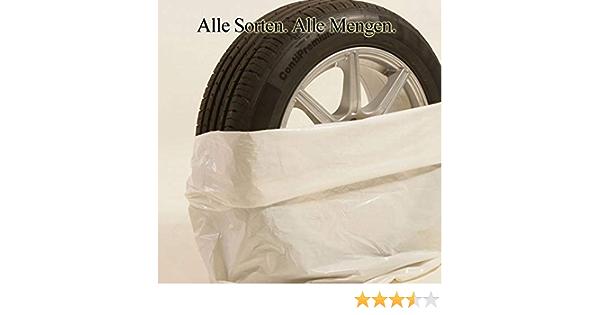 50 Reifentüten Weiß 40µ 100 X 100 Cm Bis 22 Zoll Xxl Reifensack Reifentaschen Extrastark Reifenschutz Kein Schrott Auto