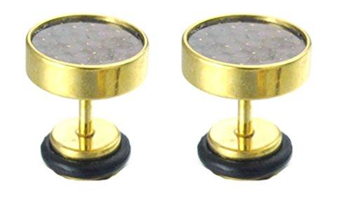 BeyDoDo Modeschmuck Edelstahl Ohrringe für Damen Kreis Rund Ohrstecker Gold (Kostüm Mutter Natur Muster)