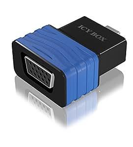 Icy Box IB-AC505 Adaptateur Mini DisplayPort vers VGA Noir
