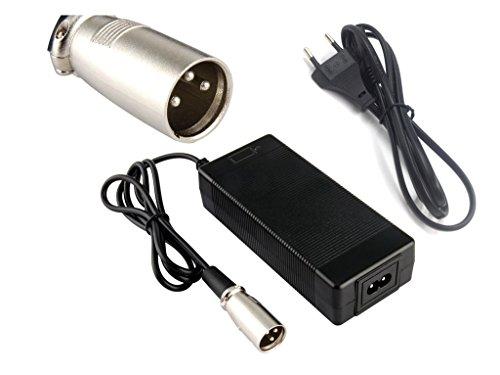Tangspower, caricabatterie 36V, 2A, uscita 42V, 2A, input 100-240V CC, caricatore a ioni di litio e litio-polimeri, per bici elettrica 10Series 36V, 42V2AXLRM, 2