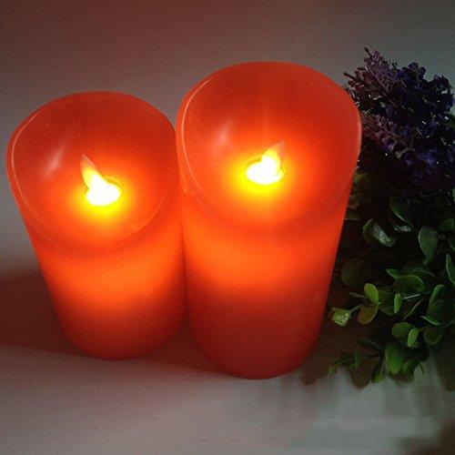 iCoco LED Velas juego de 3 velas sin llama, funciona con 18 teclas Mando a distancia, temporizador, móviles Llama y cambio de color. De Cera Auténtica, Salón Dormitorio Decoración para cumpleaños, bodas 10.5 cm 13 cm 15.5 cm de alto
