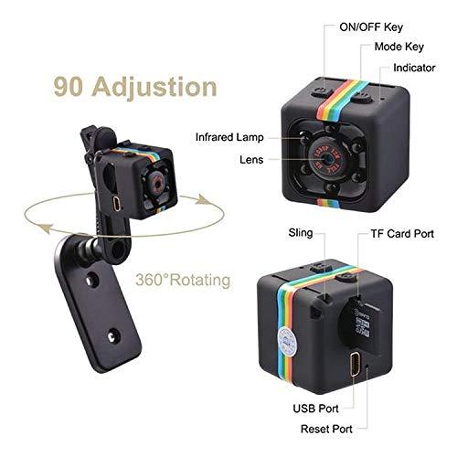 WANGTAO Hidden Spy Camera 1080P Mini Telecamera Senza Fili di Sicurezza con Visione Notturna, videoregistratore per Nanny/Governante, Sport Azione Cam con Motion Detection e l'uso Esterno