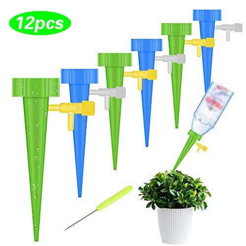 Vegkey Automatisch Bewässerung Set, Pflanzen Bewässerung 12 Stück Bewässerungssystem zur Pflanzen Einstellbar Bewässerungssystem für Bonsai, Pflanzen, Blumen