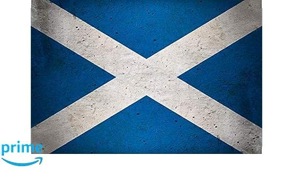 BlechschilderWelt Plaque en t/ôle r/étro Drapeau de l/Écosse National Scotland