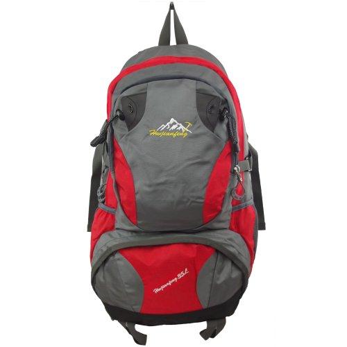 UKFS Außen 35 Liter Wanderrucksack / Sport Reisen Camping Kletter Tasche / Rucksack (Orange) Rot