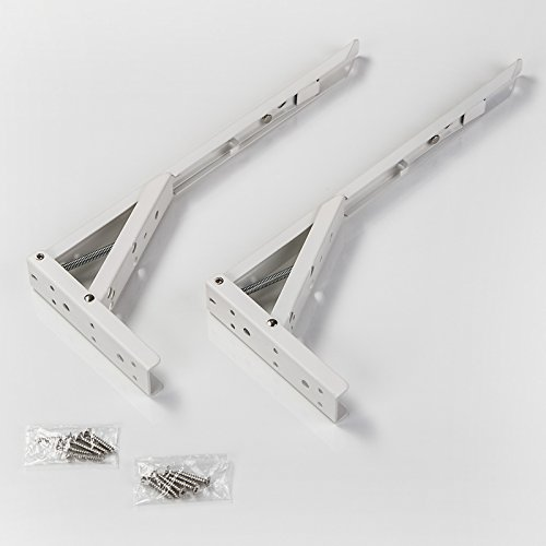 1 Paar SO-TECH® Klappkonsole 341,5 x 20,5 x 136 mm Stahl weiß beschichtet Tragkraft 55 kg
