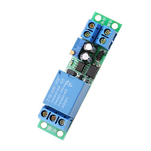Delay Relay Modul mit Optokoppler Isolator, DC 12V Timer Relais Relay Module Board, 0-25 Sekunden Einstellbares -