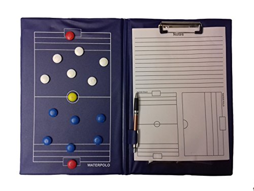Muma Sport - TAVOLA TATTICA PALLANUOTO - tactic board waterpolo, magnetica, blocco notes, penna