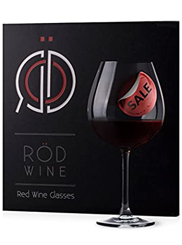 RÖD Wine Beste Geschenk Glaswaren Kollektion, Kristall Glas, Rot Wein Gläser Set, (650 ml, 3-teiliges)