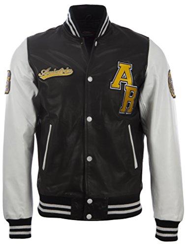 Aviatrix Herren echtes Leder Letterman Baseball-Jacke (VZH7) (Baseball Lederjacke)