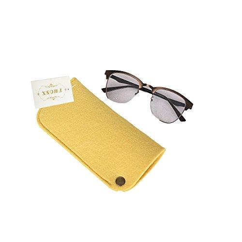 Brillentasche Brillenetui Sonnenbrillen Brillensack aus Filz für Brillen Sonnenbrillen Lesebrillen...
