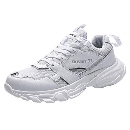 Cleanse Mischung (KIMODO® Sneakers Herren Arbeiten Wilde Mischungs-Farben Laufschuhe Sportschuhe Bequeme Atmungsaktiv Niedrig-Oberseite Turnschuhe (Weiß, Größe 40))