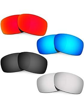 Hkuco Mens Replacement Lenses For Oakley Fives 3.0 Red/Blue/Black/Titanium Sunglasses