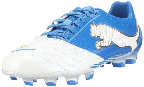 Puma Powercat 1,12 Fg 102470 Herren Sportschuhe - Fußball Weiss (bianco Perla-puma Royal-team Oro 01)