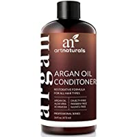 Acondicionador de cabello con aceite de argán ArtNaturals - (16 Fl Oz/473ml) - Sin sulfato - Tratamiento para cabello seco y dañado - Para todo tipo de cabello - Seguro para cabello tratado con color