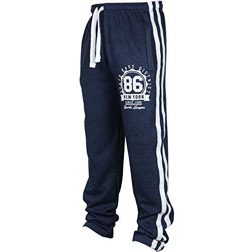 QINPIN Mode Männer Individuelle Casual Sporthosen Marineblau S