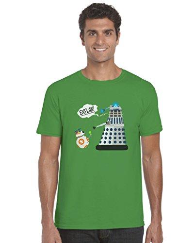 T-Shirt inspiriert von Star Wars und Dr Who Gr. X-Large, Irish Green,X-Large,Irish Green,X-Large (Kinder Dr Who Kostüme)