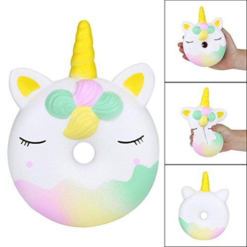 STRIR Squishy Doll Unicornio Donut en forma de espuma suave Extrusión Fragante Kawaii Juguetes Descompresión