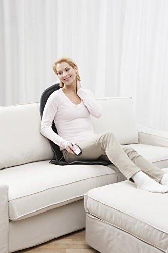 Medisana MCH Massagesitzauflage mit 4 Massagezonen und 5 Programmen (ideal für Auto oder Büro) -