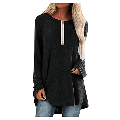 TEFIIR Sweatershirt Damen Fashion Pullover Shirt Casual Oberteil Langärmliges mit V-Ausschnitt Buchstabenmuster Winter Warm T-Shirt Elegant Lose Tops