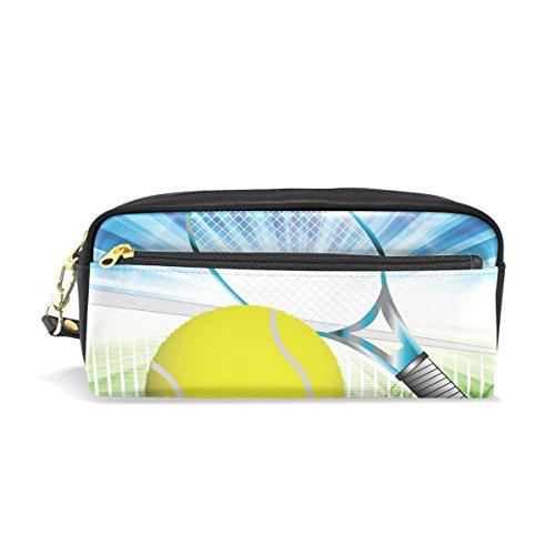 jstel tenis escuela lápiz bolsa para bebés de los niños Niños Adolescentes soporte para bolígrafos de maquillaje bolsa mujer duradera gran capacidad bolsa de papelería