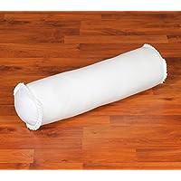 Leewadee Cojín para Yoga, 55x15x15 cm, Capok, Blanco