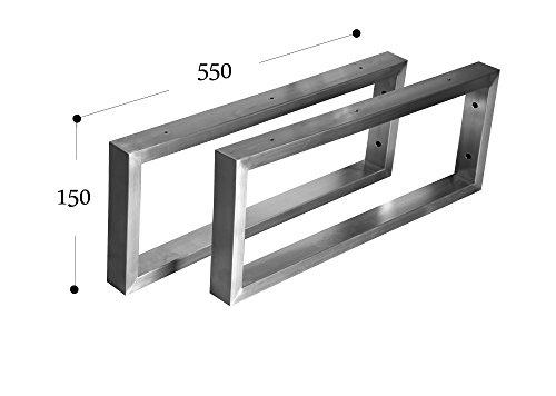 CHYRKA Wandkonsole Edelstahl 201 40x20 Träger Regalträger Regalhalter Konsole Waschbecken (150x550 mm - 1 Paar)