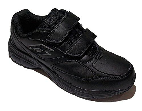 Lotto T0101 Antares Xi Lth S Noir Double Velcro Sport Chaussures Homme Noir