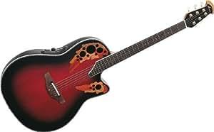ovation celebrity deluxe cc44 rrb acoustic electric guitar ruby red burst. Black Bedroom Furniture Sets. Home Design Ideas