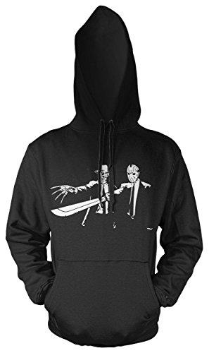 & Jason Männer und Herren Kapuzenpullover | Spruch Tarantino Horror Geschenk (XXL, Schwarz) (Plus Size Freddy Kostüme)