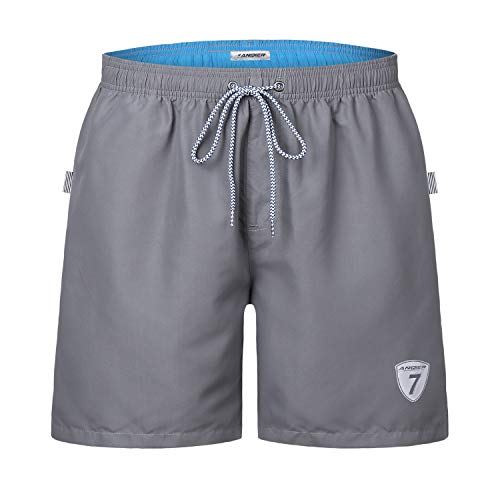 Herren Jungen Badeshorts für Männer Schnelltrocknend Surfen Strandhose Schwimmhose Strand Shorts mit Mash-Innenfutter ()