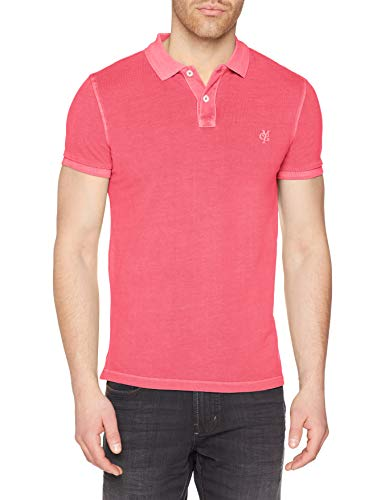 Marc O'Polo Herren M22226653024 Poloshirt, Rosa (Ibis Rose 630), Large (Herstellergröße: L) -
