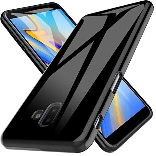 LK Funda para Samsung Galaxy J6+ / J6 Plus 2018, Carcasa Cubierta TPU Silicona Goma Suave Case Cover Play Fino Anti-Arañazos - Negro