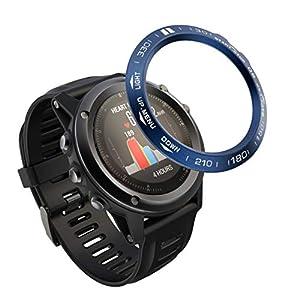 95sCloud Bezel Kompatibel für Garmin Fenix 3 Bezel Ring Adhesive Cover Anti Scratch Edelstahl Schutzfolie Panzerglas Panzerglasfolie Gehärtetem Glas Displayschutzfolie Schutz