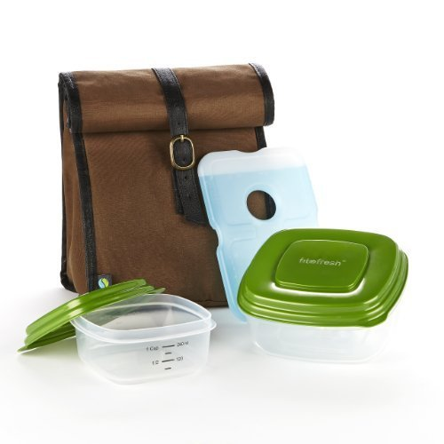 fit-fresh-mens-classic-lunch-bag-kit-with-sandwich-and-side-reusable-containers-dark-brown-by-fit-fr
