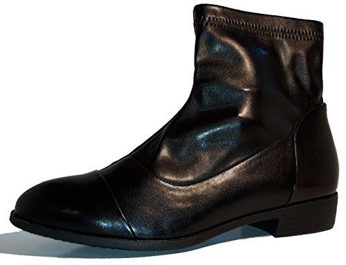 Bottes hiver demi-hautes, chaussures femme, modèle 11094104011007, jaune ou noir, différents modèles et tailles. Noir modèle B.
