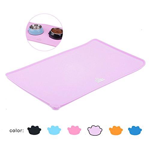 Super design tappetino per cani tappetino silicone tappetino sottociotola cane ciotola cane cani accessori tappetino gatto tappetino gatto cibo rosa chiaro