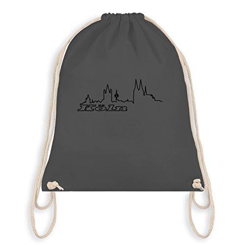 Shirtracer Skyline - Köln Skyline - Unisize - Dunkelgrau - WM110 - Turnbeutel I Gym Bag