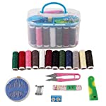 SHOPPO SHOP™ Double Layer Portable Travel Sewing Kits Box with Color Needle Threads Scissor pin Hand Work Sewing Box...